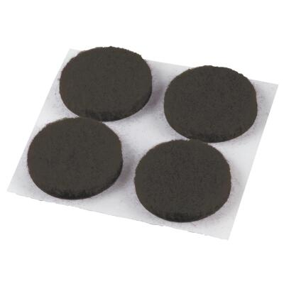 Do it 3/4 In. Brown Round Felt Pad (12-Count)