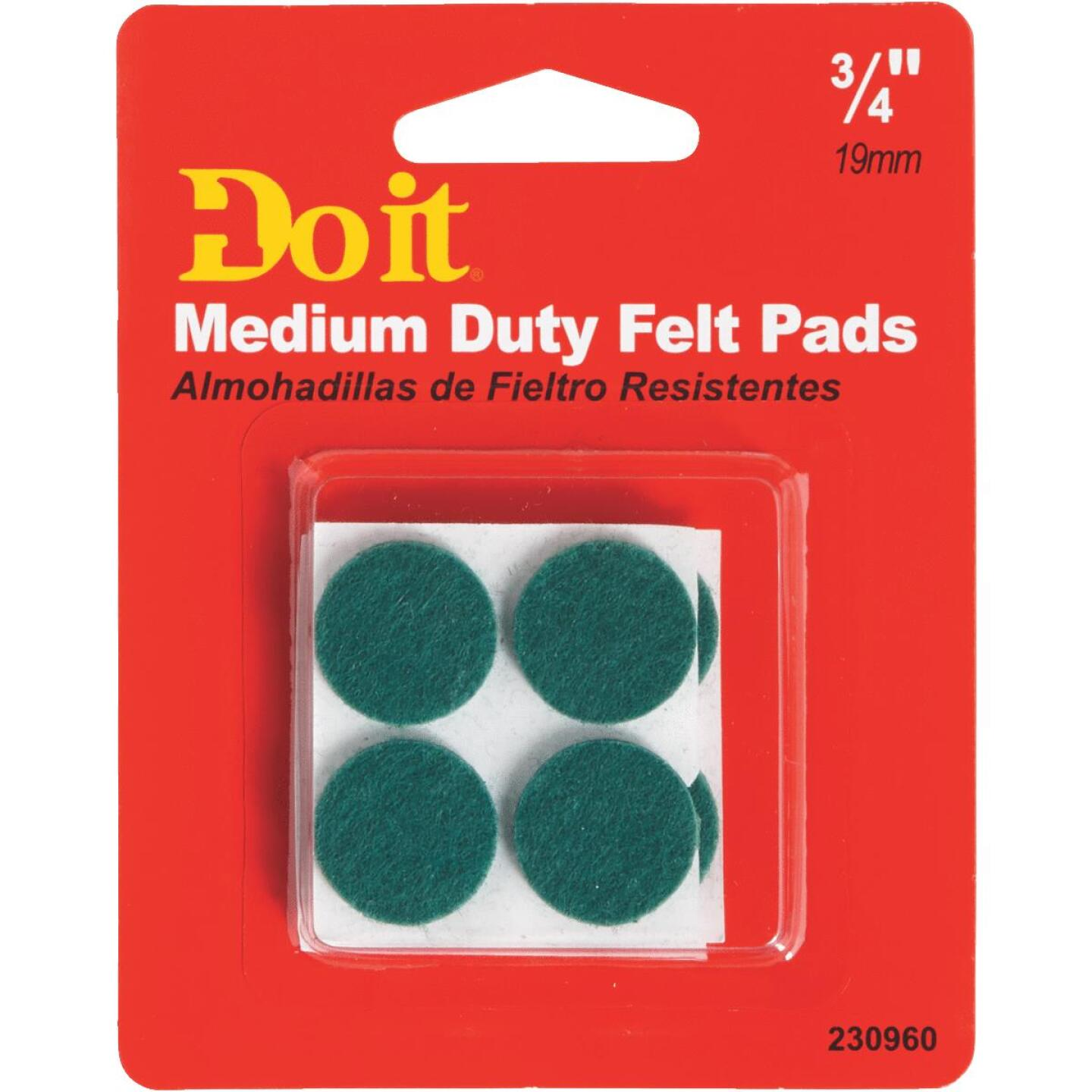 Do it 3/4 In. Green Round Felt Pad (12-Count) Image 2