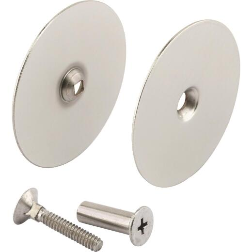 Defender Security 2-5/8 In. Satin Nickel Hole Cover Plate