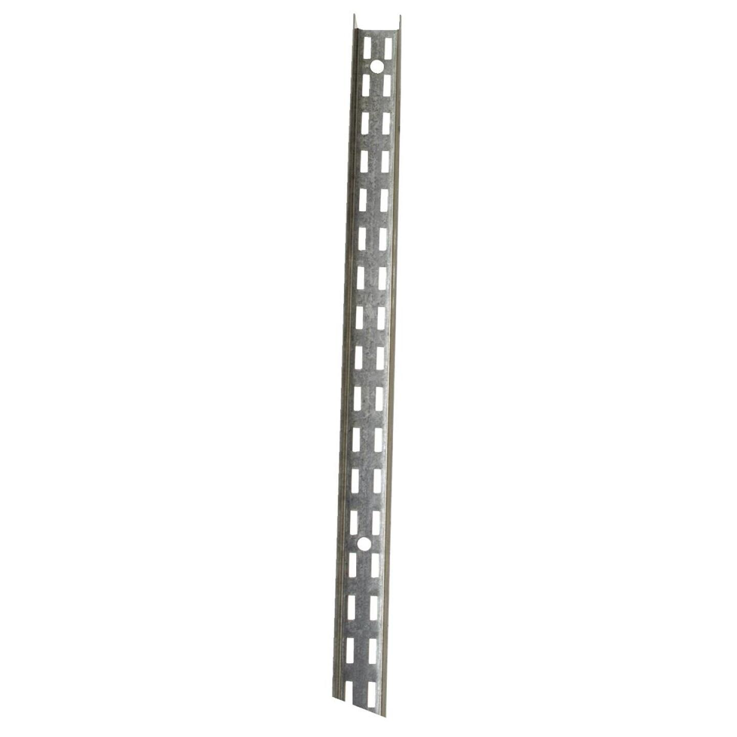 John Sterling Fast-Mount 72 In. Galvanized Steel Double-Slot Shelf Standard Image 1