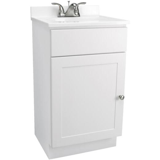 Design House Shorewood White Combo 18 In. W x 31-1/2 In. H x 16 In. D Vanity with Cultured Marble Top