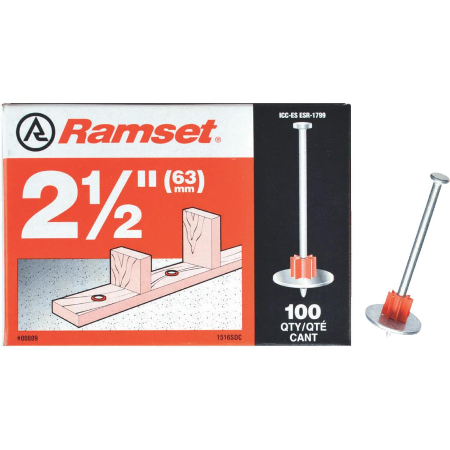 Ramset 2-1/2 In. Fastening Pin with Washer (100-Pack) Image 1