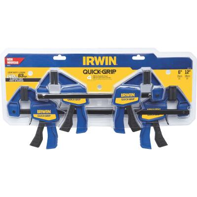 Irwin Quick-Grip One-Hand Bar Clamp Set (4-Piece)