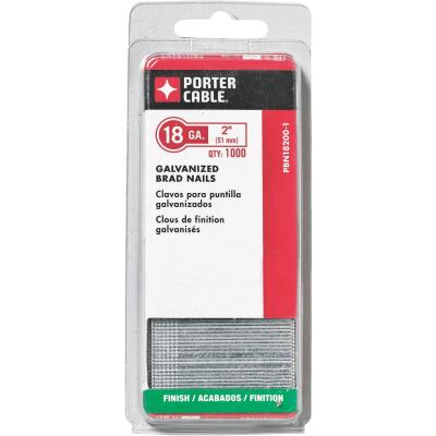 Porter Cable 18-Gauge Galvanized Brad Nail, 2 In. (5000 Ct.)