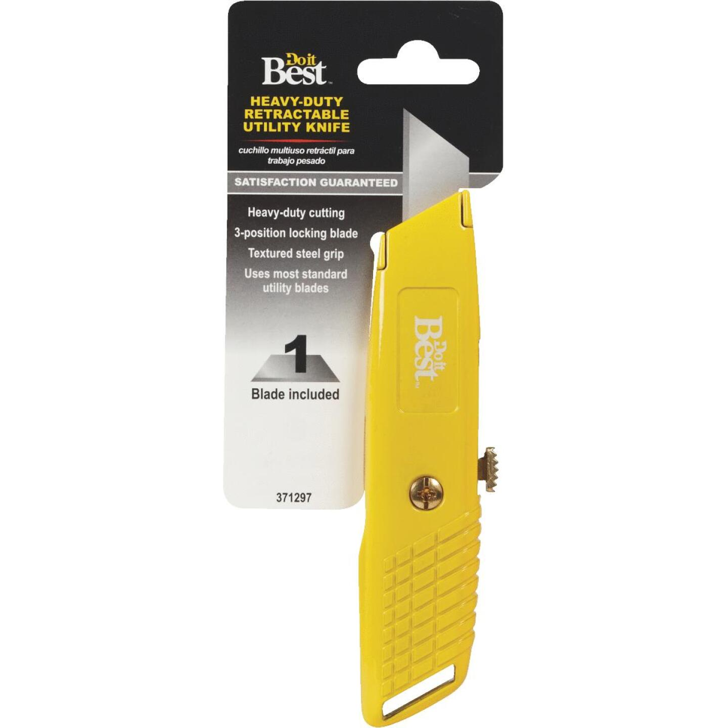 Do it Best Heavy-Duty Retractable Straight Utility Knife Image 3