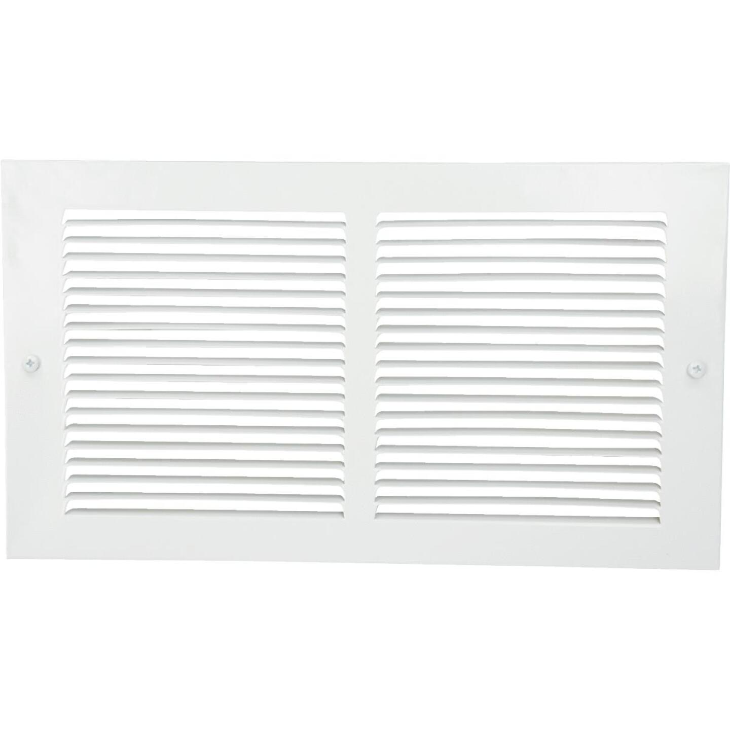Home Impressions 6 In. x 12 In. White Steel Baseboard Grille Image 2