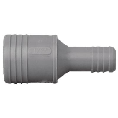 Boshart 3/4 In. x 1/2 In. Reducing Polypropylene Insert Coupling