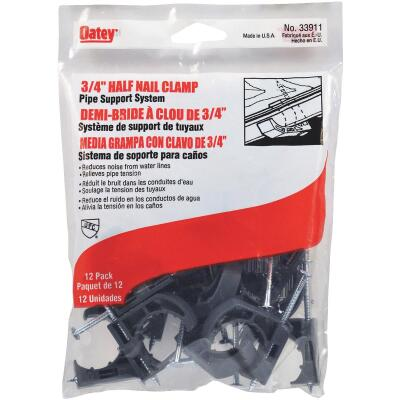 Oatey Insulator 3/4 In. Plastic Nail-On Pipe Half Clamp, 12-Pack