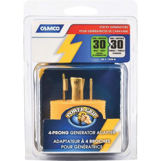 Camco Power Grip 30-Amp 4-Prong RV Generator Adapter