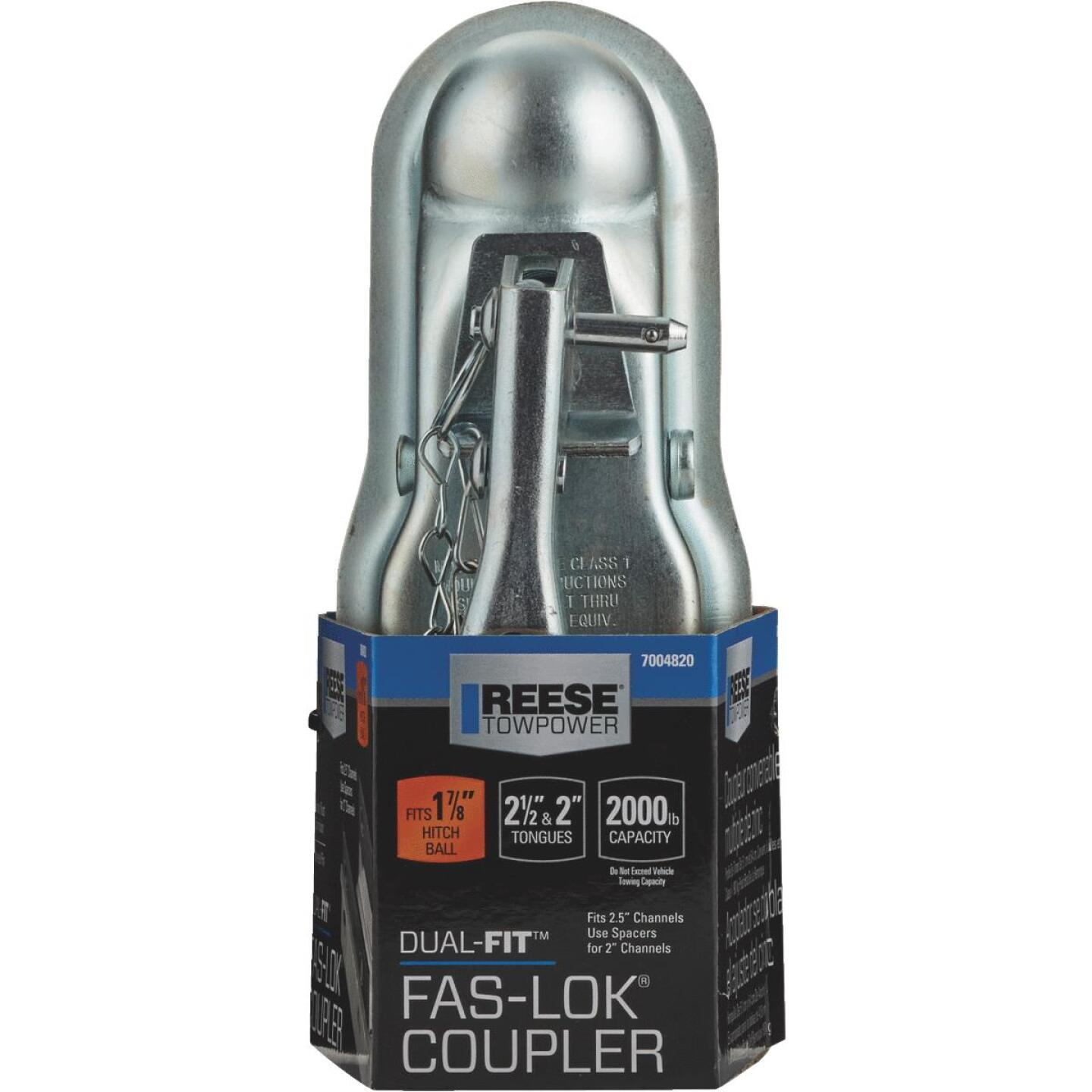 Reese Towpower Dual-Fit Fas-Lok 1-7/8 In. Ball Class I Trailer Coupler Image 2