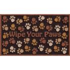 Apache Wipe Your Paws 18 In. x 30 In. Recycled Rubber Door Mat Image 1