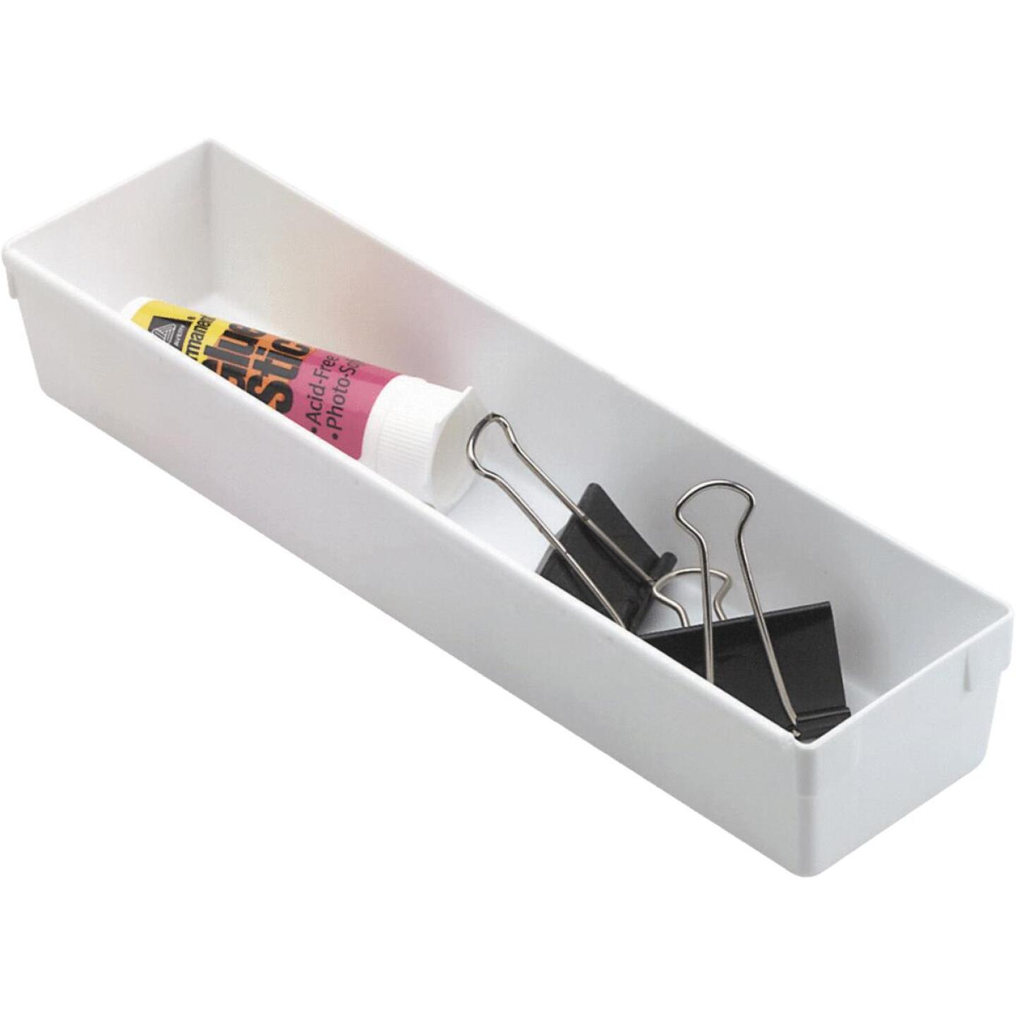 Rubbermaid 3 In. x 12 In. x 2 In. White Drawer Organizer Tray Image 1