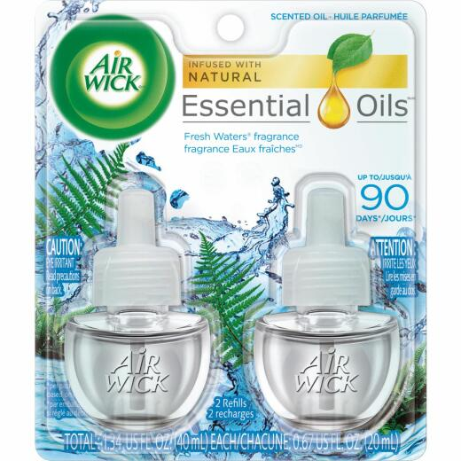 Air Wick Fresh Waters Scented Oil Refill (2-Pack)