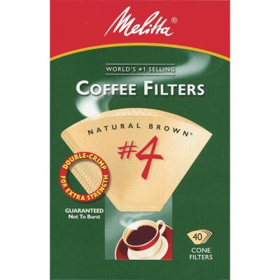 Melitta #4 Cone 8-12 Cup Brown Coffee Filter (40-Pack)