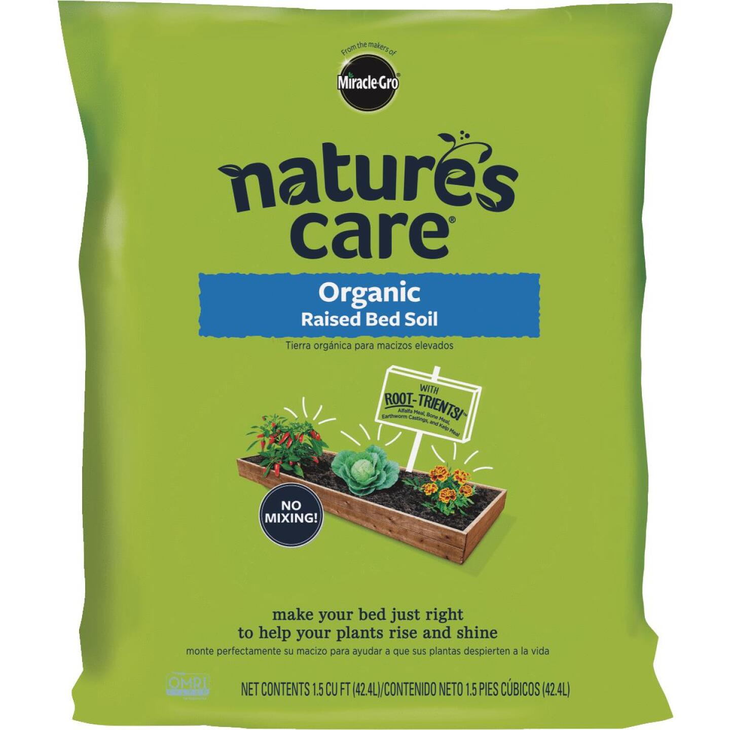 Miracle-Gro Nature's Care 1.5 Cu. Ft. Raised Bed Organic Garden Soil Image 1