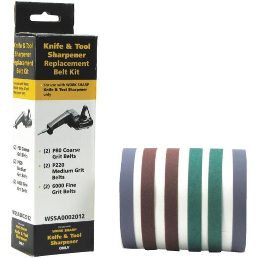 Work Sharp Replacement Belt Sharpening Kit (6-Piece)